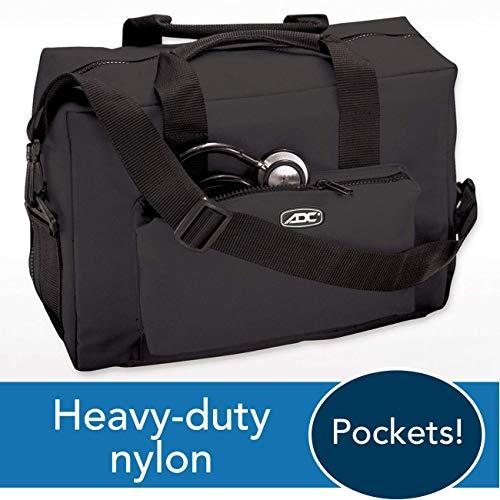 ADC 1024 Nurse/Physician Nylon Medical Equipment Instrument Bag, Black