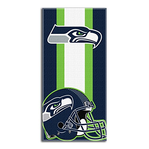 "THE NORTHWEST COMPANY Officially Licensed NFL Seattle Seahawks Zone Read Beach Towel, 30"" x 60"", Multi Color"