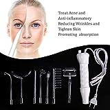 Alta Frecuencia Facial Dispositivos, 7pcs portátil alta frecuencia piel la racionalización Acne Spot Arrugas Remover hinchadas Ojos, Cuidado corporal, Belleza Facial Masaje dispositivo.