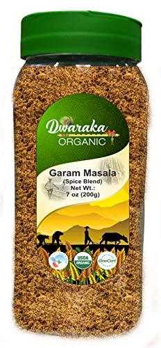 Dwaraka Organic Garam Masala in Jar - USDA Certified Organic | Raw, Gluten-Free & Non-GMO | (7 oz / 200 grams)