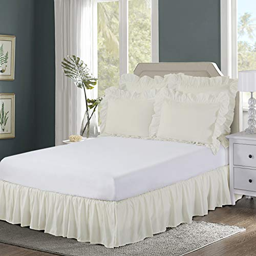 Top ivory bed skirt full for 2020