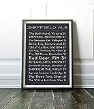 Free Brand 27,9 x 35,6 cm Holz Wandschild Sheffield Print