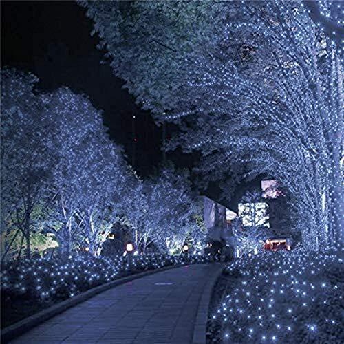 RTUTUR 8 Patterns 100/200 LEDs Solar String Lights Outdoor Waterproof for Garden Christmas Wreath Solar Lights Fairy Light String,Pink,8 Modes 22m 200leds