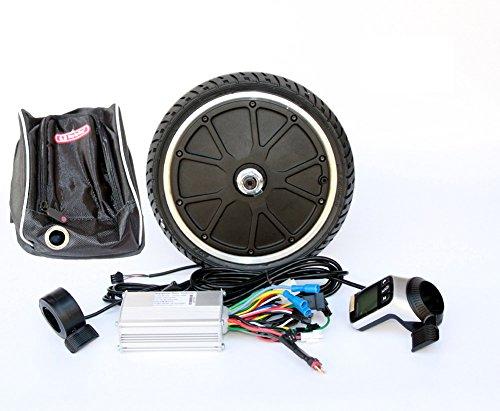 250W Electric Scooter Motor Kit de Conversión de la Rueda Bicicleta Mini 45mm Motor Kit Wuxing Pantalla LCD Thumb Throttle Y EBS Freno Pulgar