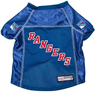 New York Rangers Premium Pet Dog Hockey Jersey w/ Name Tag XL