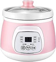 KTDT Elektrische kookpan, 1,5 l, met keramische voering, intelligente kookpan voor thuis met reserve-functie en 6 kookinst...