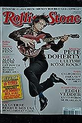 ROLLING STONE 8 MARS 2009 COVER PETE DOHERTY SEAN PENN ALELA DIANE CAT POWER EDDIE VEDDER