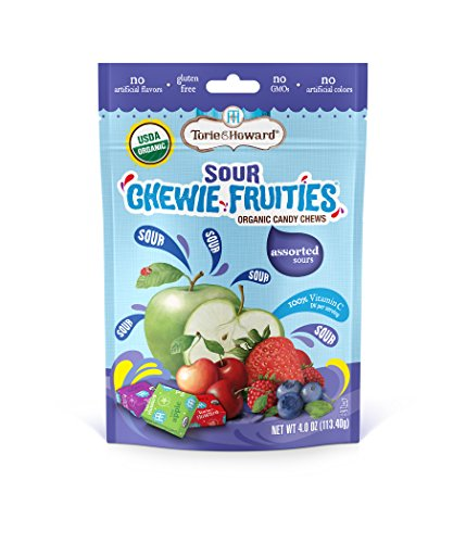 Torie and Howard Chewie Fruities, Sour Assorted Flavors, 4 Ounce