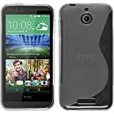 PhoneNatic Hülle kompatibel mit HTC Desire 510 - Clear Silikon Hülle S-Style + 2 Schutzfolien