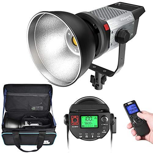 LED Videolicht, Pixel C100 120W 5600K Tageslicht COB LED Video Leuchte mit Adapter, Fernbedienung & Tragetasche Video Light für YouTube Studio Video Porträt Fotografie Beleuchtung