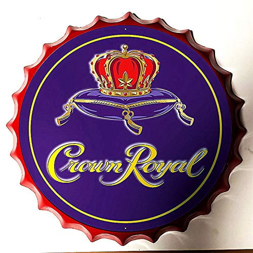 Modern Vintage Metal Tin Signs Bottle Cap Crown Royal Purple ! Wall Plaque Poster Cafe Bar Pub Beer Club Wall Home Decor 13.8 inches