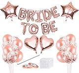 MQIAN Bride to Be Kit,Bride to Be Banner,Palloncini Addio al Nubilato,Oro Rosa Palloncini,Bride to Be Accessori,Addio al Nubilato Gadget Sposa per Hen Notte Feste