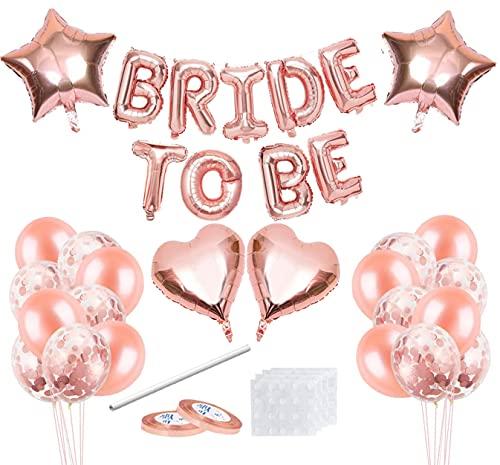 Bride to Be Globos,Bride to Be Banner,Bride to Be Accesorios,Despedida de Soltera Accesorios,Globos Oro Rosa Decorados para Despedida de Soltera,para Fiesta de Despedida de Soltera