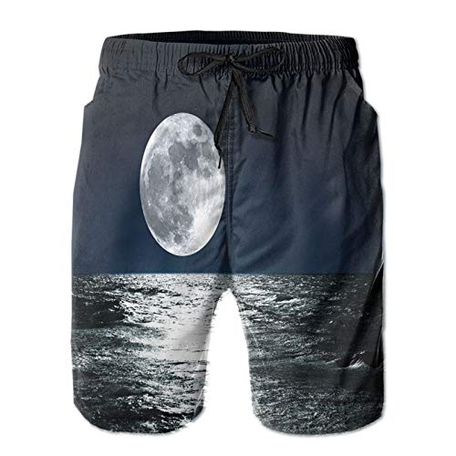 Men's Beach Shorts/and Its Reflection On The Sea Sky Ethereal Men Shorts Casual Workout Elastic Waist Short Pants Drawstring Shorts with Pockets