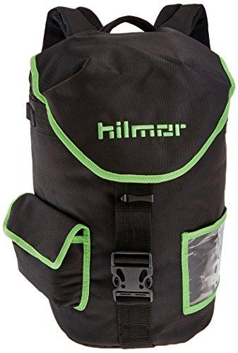 Hilmor HVAC/R Refigerant Tank & Utility Backpack with 8 Carabiner Loops & Storage Pocket, Black & Green, 1891628
