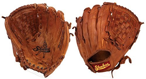 Shoeless Joe Gloves Basket Weave Pocket Brown Glove, 12-Inch, Right Handed