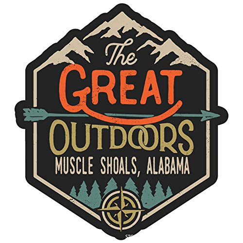 Muscle Shoals Alabama The Great Outdoors Design 2-Inch Vinyl Decal Sticker