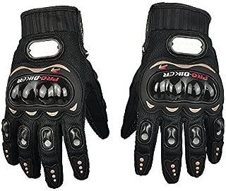 elegantstunning Carbon Fiber Motorcycle Motorbike Bike Cycling Racing Full Finger Gloves Large
