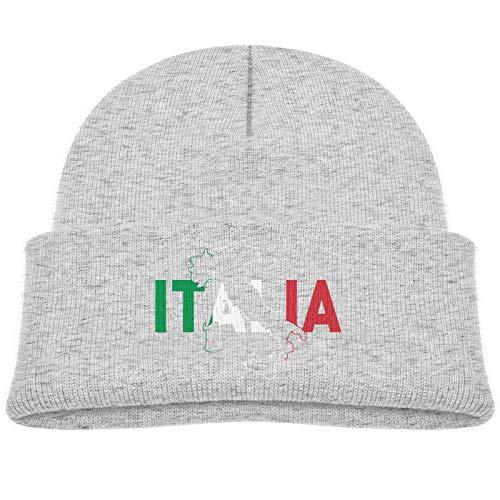 Italia Bandera Colores Mapa Gorro Infantil Gorro Grueso Gorro cálido