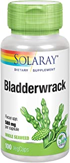Solaray Bladderwrack Seaweed 580 mg | Healthy Thyroid Balance and Weight Management Support | Non-GMO & Vegan | 100 VegCaps