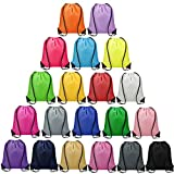 Vorspack Drawstring Backpacks Bulk 20 Pieces of 20 colors String Bags, Customized Gift Bags Goodie Bags for Class Party Gym Sport Trip