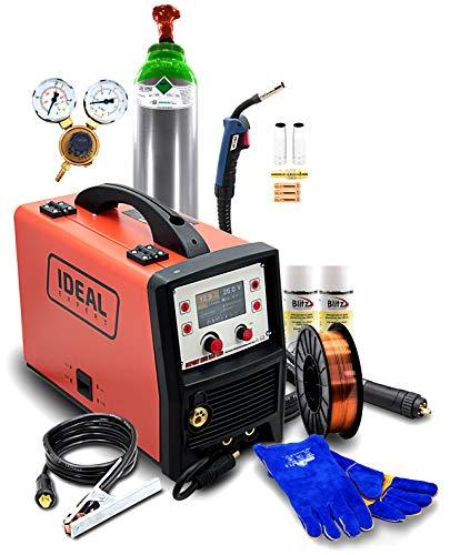 Set Ideal Expert MIG 215 3 en 1 MIG/MAG TIG Inverter Soldadora 200A Synergie