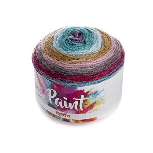 Katia Paint–Color: 66–150g/Aprox. 540M Bobbel acrílico con Largo Degradado