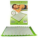 Акупрессурный коврик, 80x50x2,5 cm, стимулирующие гироскопы 275 с наконечниками 42 Коврик для йоги Yantramatte