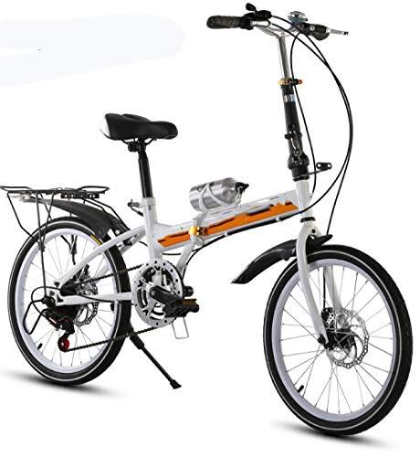 HZHI Bicicleta Plegable de 20 Pulgadas con Freno de Doble