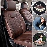 shanhua Asientos de Auto de para automóvil Cubiertas Juego Completo de 5 Asientos Universal para A Cura Legend Protección Completa marrón