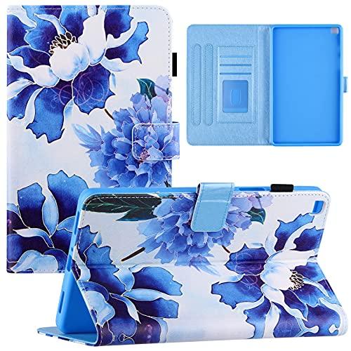 Galaxy A 8 2019 Funda para Samsung A8 SM-T290/T295 Robusto, a prueba de golpes, soporte Folio Case (azul)