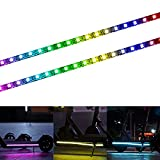 YHGSEE Electric Scooter LED Strip Light, 2 Pack Night Cycling Foldable Colorful Lamp Waterproof Safety Skateboard Decorative Accessories for Xiaomi M365/pro, for Ninebot/Mercane Wide Wheel Scooter