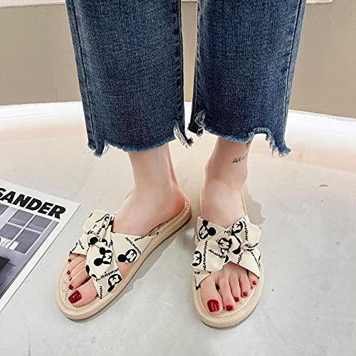 ypyrhh Zapatos Unisex Adulto,Sandalias de la Palabra Cruzada,Zapatos Romanos de Fondo Suave Ocasional-Blanco 1_36,Zapatillas Flip Flops Sandal