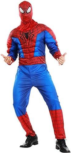 YUNMO Collants de vêteHommests de Muscle Spiderhomme Hero Sneak Battle Suit Cosplay