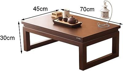 Coffee Tables Zen Tea Table Bedroom Bay Window Table Living Room Coffee Table Study Study Low Table Solid Wood Platform Low Table (Color : Brown, Size : 70 * 45 * 30cm)