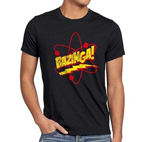 CottonCloud Sheldon Atom Herren T-Shirt, Größe:M, Farbe:Schwarz