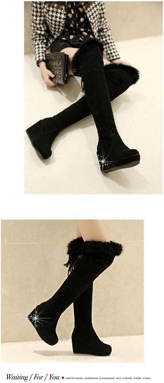 CN Damenstiefel - Schneeschuhe über Den Kniestiefeln über über Den Kniestiefeln Hohe Stiefel Warme Stiefel 34-43  günstig online