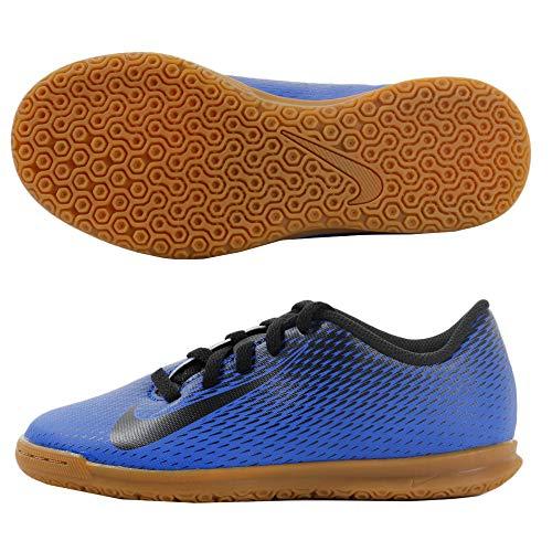 Nike Unisex-Kinder Jr Bravata Ii Ic Futsalschuhe, Mehrfarbig (Racer Blue/Black 400), 38 EU