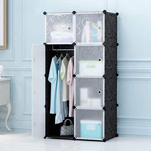 KOPASD Portable Garderobe Für Hängende Kleidung, Kombischrank, Modulare Schrank Für Platzsparende, Ideale Storage Organizer Cube Für Bücher, Spielzeug(8-würfel)