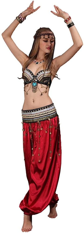 Byjia Dance Dance Dance costumes Frauen Moderne Bauchtanz Stamm Quaste Pailletten Perlen Handmade Professionelle Leistung Kostüm Set BH Hosen Bund B0768XQ1NM  ein guter Ruf in der Welt 92e10c