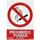 WOLFPACK LINEA PROFESIONAL 15051275 Cartel Prohibido Fumar 30x21 cm