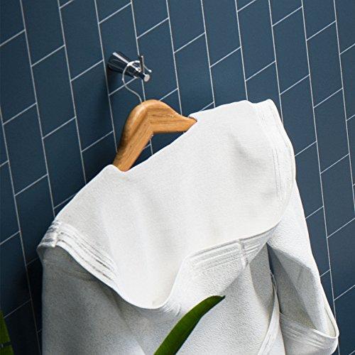 Maykke Soma Robe or Towel Hook for Bathroom or Kitchen Elegant Bath Robe Holder for Bathroom Lavatory & Shower Coat Hanger in Bedroom Brushed Nickel DLA1080102