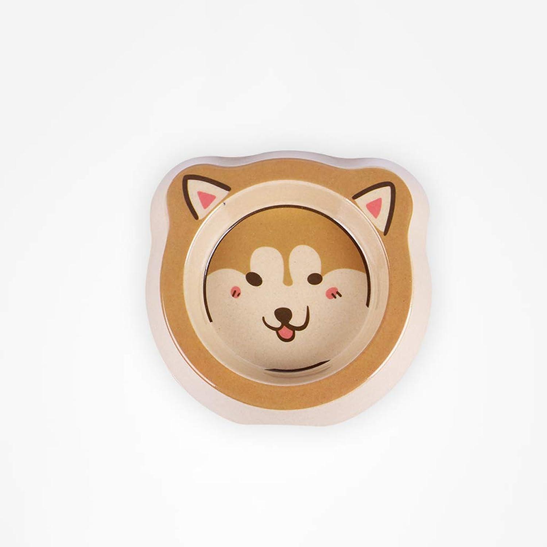 CXQ Small Dog Cat Food Bowl Cute Akita Cartoon Single Bowl Cat Bowl Dog Bowl Creative Pet Supplies