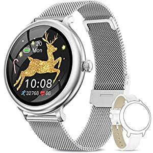 NAIXUES Smartwatch Donna IP68, Orologio Fitness Impermeabile Cardiofrequenzimetro da Polso, Smart Watch Bluetooth…