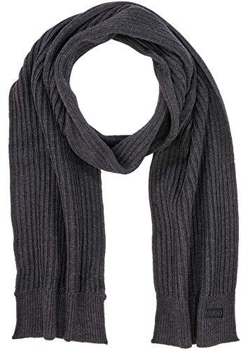 HUGO Herren Zappon 1 Schal, Grau (Charcoal 015), One Size (Herstellergröße: STÜCK)