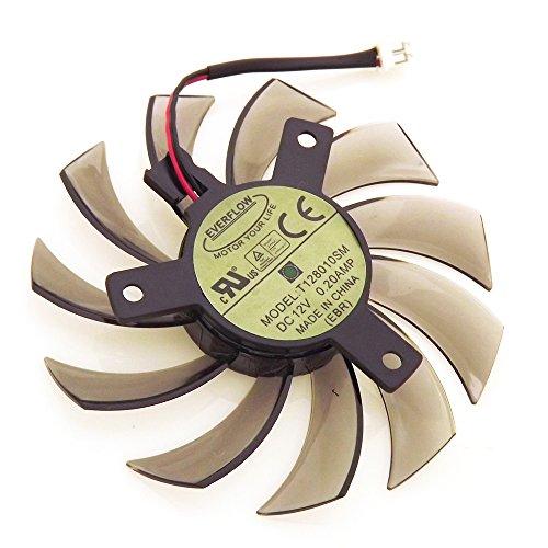 iHaospace T128010SM 12V 0.2A 2Pin 75mm Grafikkartenlüfter for Gigabyte N470SO N580UD N580SO GTX460 GTX470 GTX580 HD5870 Cooling Fan