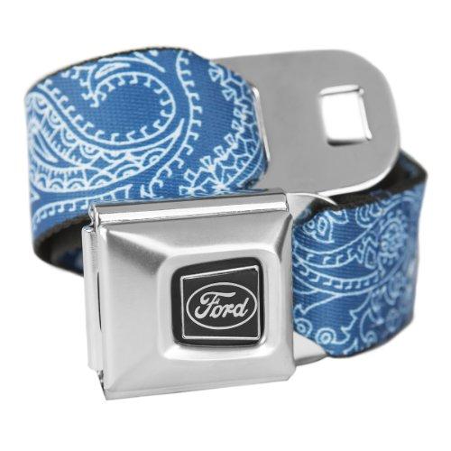 Buckle Down Ford Bandana bleu avec boucle de ceinture de sécurité – Produit officiel