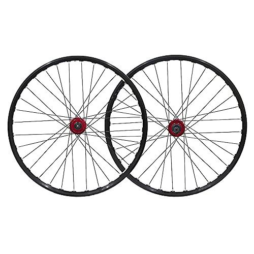 Juego de Ruedas de bicicletas,32 orificios Rueda delantera Rueda trasera Bujes de freno de disco Llanta de aleación de aluminio doble pared Liberación rápida/B / 26 Inch