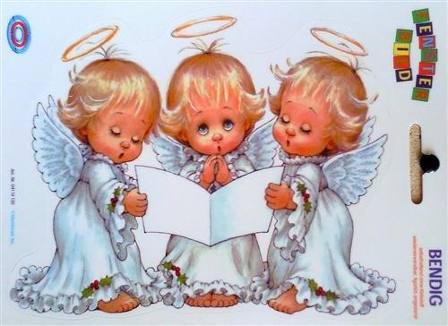 Fensterbild - Singende Engel 17 x 24 cm
