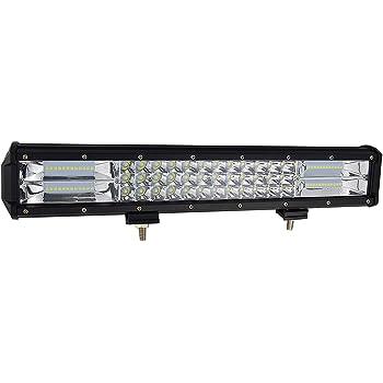 haz combinado de inundaci/ón de puntos de 10V-30V 6000K para Off Road ATV AWD SUV 4WD 4x4 Van Camper l/ámpara de conducci/ón BIGSEASON 22 pulgadas 120W barra de trabajo LED curvada